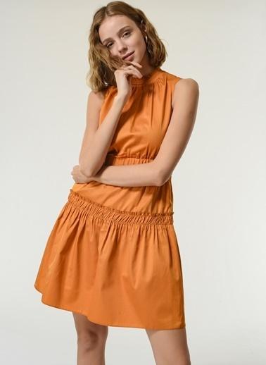 NGSTYLE Kadın Gipe Detaylı  Elbise NGKSS21EL0040 Hardal